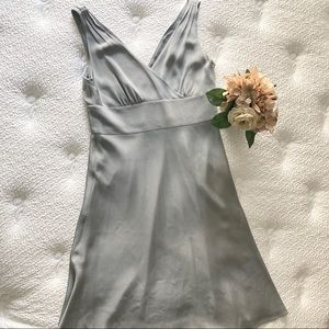 J. Crew Silver Formal Dress
